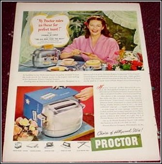 Proctor Toaster ad with Yvonne De Carlo