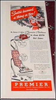 1940 Premier Vacum Cleaner ad