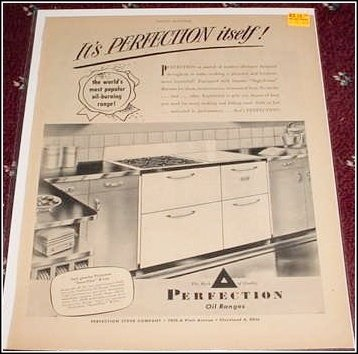 1946 Perfection Oil Range ad