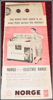 Norge Electric Range ad