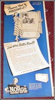 1948 Norge Freezer ad