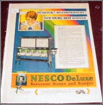 1930 Nesco Deluxe Gas Stove ad