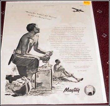 1944 Maytag WWII ad