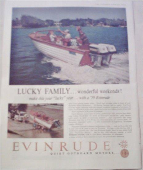 1959 Evinrude Boat ad