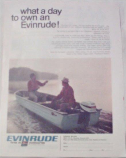 1968 Evinrude Fisherman Motor ad