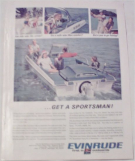 1967 Evinrude Sportsman Boat ad