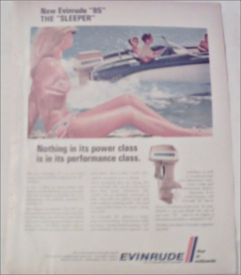 1968 Evinrude 85 Sleeper Motor ad
