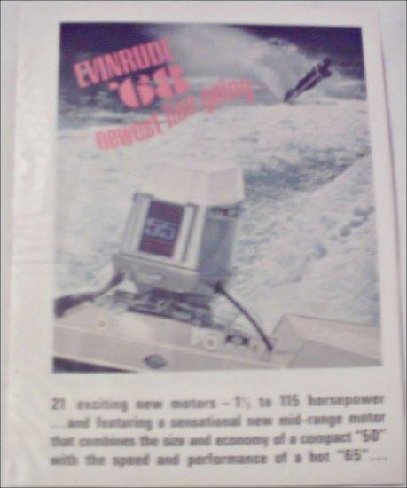 1968 Evinrude Motor & Boat ad