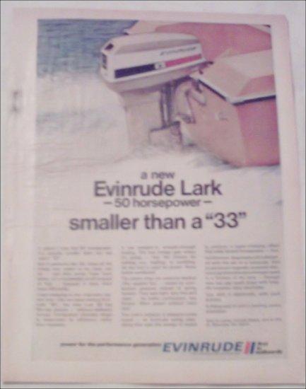 1971 Evinrude Lark Motor ad