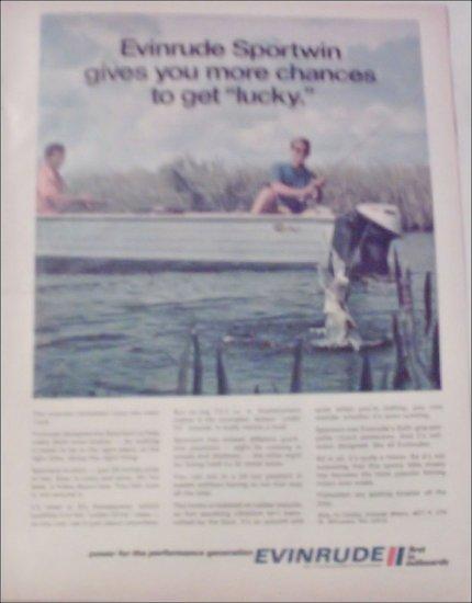 1970 Evinrude Sportwin Motor ad