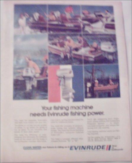 1972 Evinrude Bass Boat Motor ad