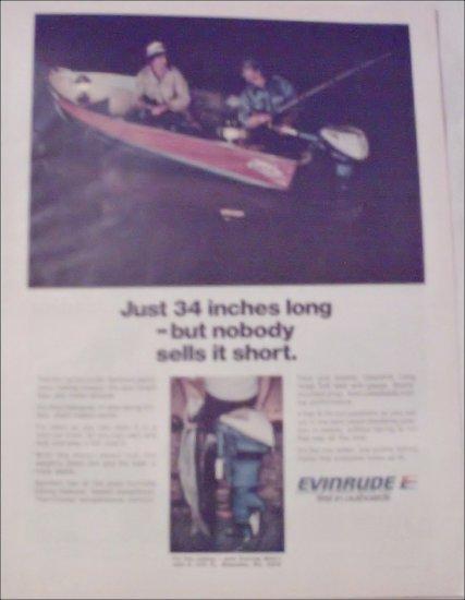 1973 Evinrude 9 1/2 HP Motor ad