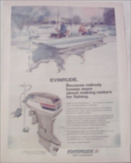 1974 Evinrude Scout Motor ad