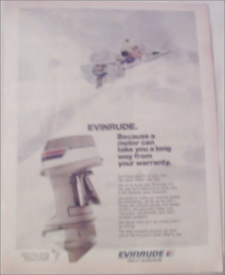 1974 Evinrude V-4 Motor ad