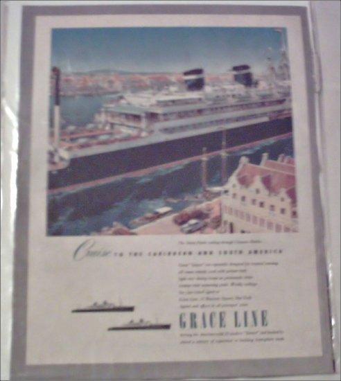 Grace Line Ship ad featuring the Santa Paula