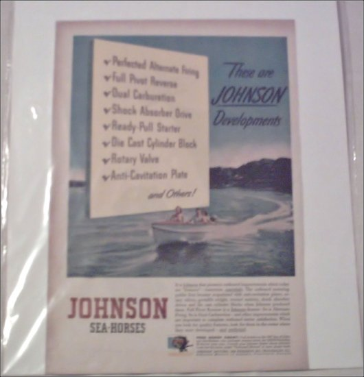 1947 Johnson Boat ad