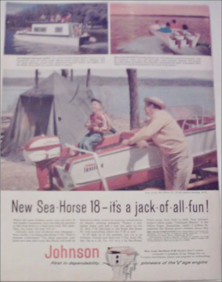 1958 Johnson Sea-Horse 18 Motor ad
