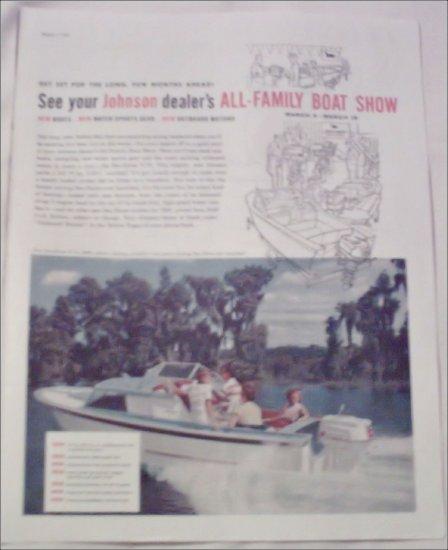 1960 Johnson Sea-Horse V-75 Motor ad