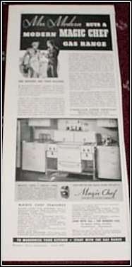1936 Magic Chef gas range ad