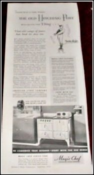 1934 Magic Chef gas range ad
