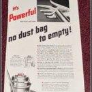 1952 Lewyt Vacum Cleaner ad