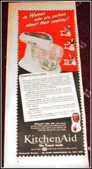 1950 Kitchen Aid Mixer ad