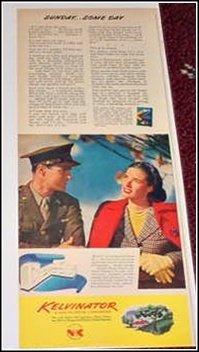 1944 Kelvinator WWII ad