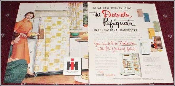 1953 IH Decorator Refrigerator ad