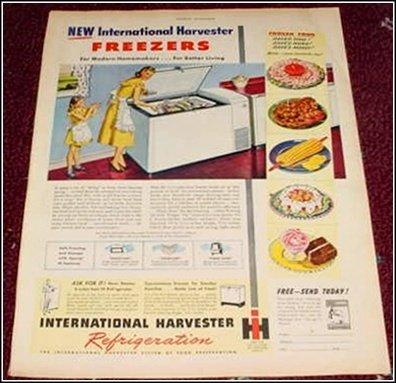 1948 IH Freezer ad