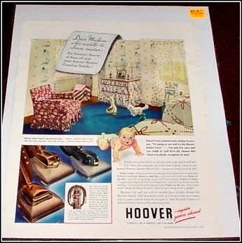 1940 Hoover vacum cleaner ad
