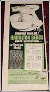 Hamilton Beach Mixette Mixer ad