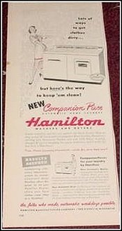 Hamilton washer & dryer ad