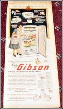 1950 Gibson Refrigerator ad