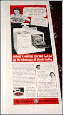 1940 GE Electric Range ad