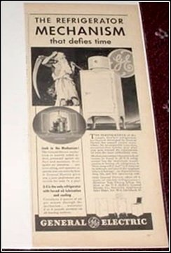 1935 General Electric Monitor Top Refrigerator ad
