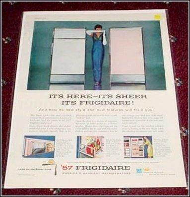 1957 Frigidaire Refrigerator ad