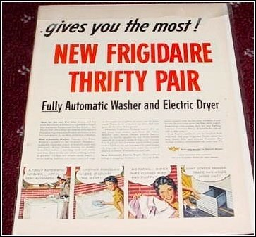 Frigidaire Washer & Dryer ad