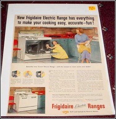 Frigidaire Electric Range ad