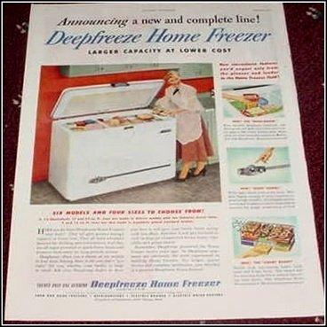 1951 Deepfreeze Home Freezer ad