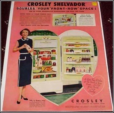 Croseley Shelvador Refrigerator ad