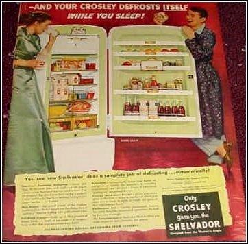 1951 Croseley Shelvador Refrigerator ad