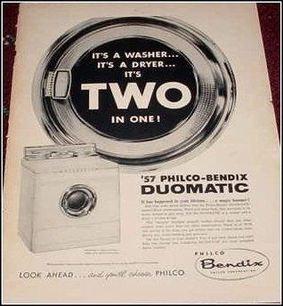 1957 Bendix Duomatic Washing Machine ad