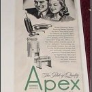 1946 Apex Appliances ad