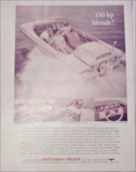 1966 Johnson Reveler Boat ad