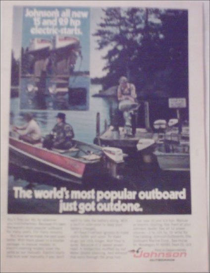 1974 Johnson 9.9 Motor ad