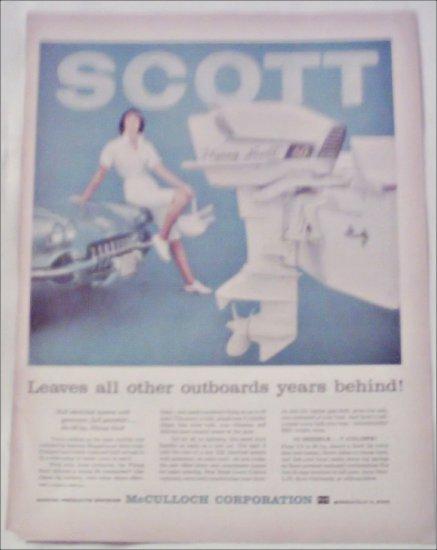 1959 McCulloch Flying Scott 60 Motor ad