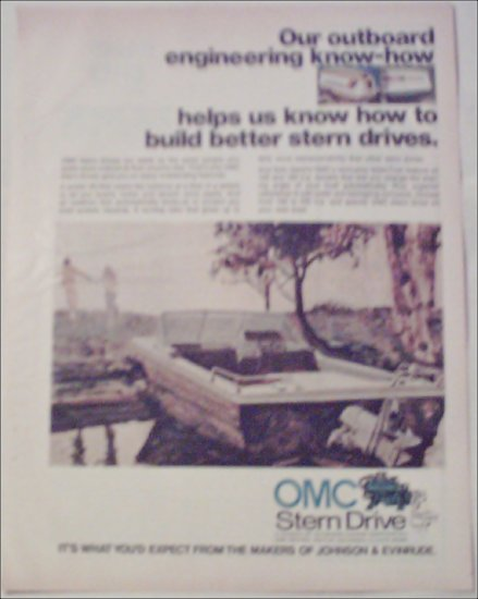 1972 OMC Stern Drive Motor ad #2