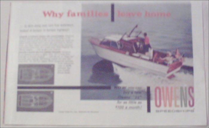 1959 Owens Cruiser Boat ad
