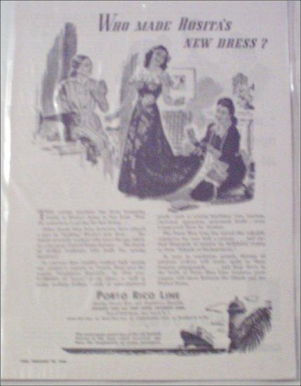 1946 Porto Rico Line ad