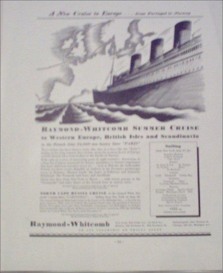 Raymond-Whitcomb Summer Cruise ad